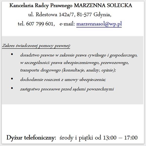 Kancelaria Rdacy Prawnego M. Sołecka