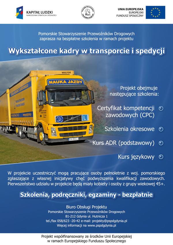 Wykształcone kadry w transporcie i spedycji